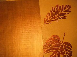 Copper striae:leaves