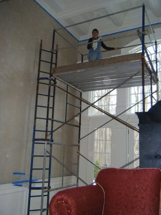 Me on scaffolding
