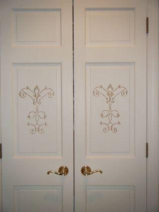 Finished closet doors