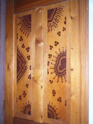 Stenciled door2