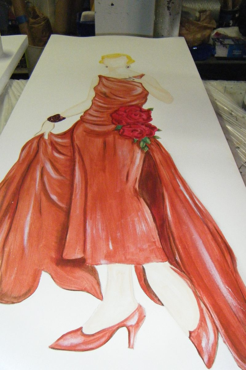 Red dress more details