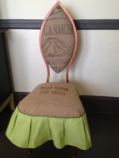Full burlap chair front