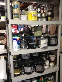 Paint on shelf
