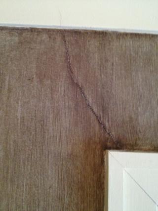 Closet wall after