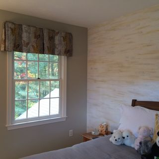 Rothfinished wall
